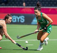 ANTWERP - BELFIUS EUROHOCKEY Championship.women  Ireland-Gemany (1-1).  Germany placed for semifinals . Anna O'Flanagan (Irl) with Amelie Wortmann (Ger) .  WSP/ KOEN SUYK