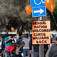 A sign welcoming Curtis Williams Saturday Oct. 6, 2018 at Red Rock Park in Church Rock at the Curtis Williams Invitational.