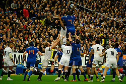 March 10, 2018 - Saint Denis, Seine Saint Denis, France - The Flanker of French Team YACOUBA CAMARA in action during the NatWest Six Nations Rugby tournament between France and England at the Stade de France - St Denis - France..France won 22-16 (Credit Image: © Pierre Stevenin via ZUMA Wire)