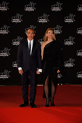 Nikos Aliagas and his wife Tina Grigoriou attending the 19th NRJ Music Awards on November 4, 2017 in Cannes, France. Photo by JLPPA/ABACAPRESS.COM