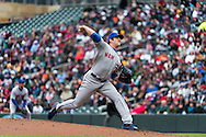 Matt Harvey #33 of the New York Mets pitches during a game against the Minnesota Twins on April 13, 2013 at Target Field in Minneapolis, Minnesota.  The Mets defeated the Twins 4 to 2.  Photo: Ben Krause