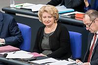 14 FEB 2019, BERLIN/GERMANY:<br /> Rita Hagl-Kehl, MdB, SPD, Parlamentarische Staatssekretaerin im Bundesjustizministerium, Bundestagsdebatte, Plenum, Deutscher Bundestag<br /> IMAGE: 20190214-01-043<br /> KEYWORDS: Bundestag, Debatte