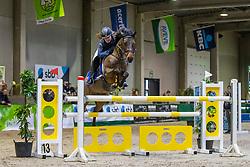 Delgouffe Nell, BEL, Quatro van de Vondelhoeve<br /> Nationaal Indoor Kampioenschap Pony's LRV <br /> Oud Heverlee 2019<br /> © Hippo Foto - Dirk Caremans<br /> 09/03/2019