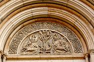 Detail of Baptistry Door  - Piazza Del Duomo - Parma Italy.