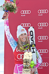 04.03.2011, Pista di Prampero, Tarvis, ITA, FIS Weltcup Ski Alpin, Supercombi der Damen, im Bild Podium Lindsey Vonn (USA, Rang 2) // podium Lindsey Vonn (USA place 2) during Ladie's Supercombi FIS World Cup Alpin Ski in Tarvisio Italy on 4/3/2011. EXPA Pictures © 2011, PhotoCredit: EXPA/ J. Groder