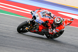 September 7, 2018 - 99 JORGE LORENZO from Spain, Ducati Team, Ducati Desmosedici GP18, Gran Premio Octo di San Marino e della Riviera di Rimini, during the Friday FP2 at the Marco Simoncelli World Circuit for the 13th round of MotoGP World Championship, from September 7th to 9th, 2018. (Credit Image: © AFP7 via ZUMA Wire)