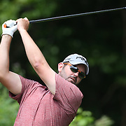 Edward Loar, USA, in action during the first round of the Travelers Championship at the TPC River Highlands, Cromwell, Connecticut, USA. 19th June 2014. Photo Tim Clayton