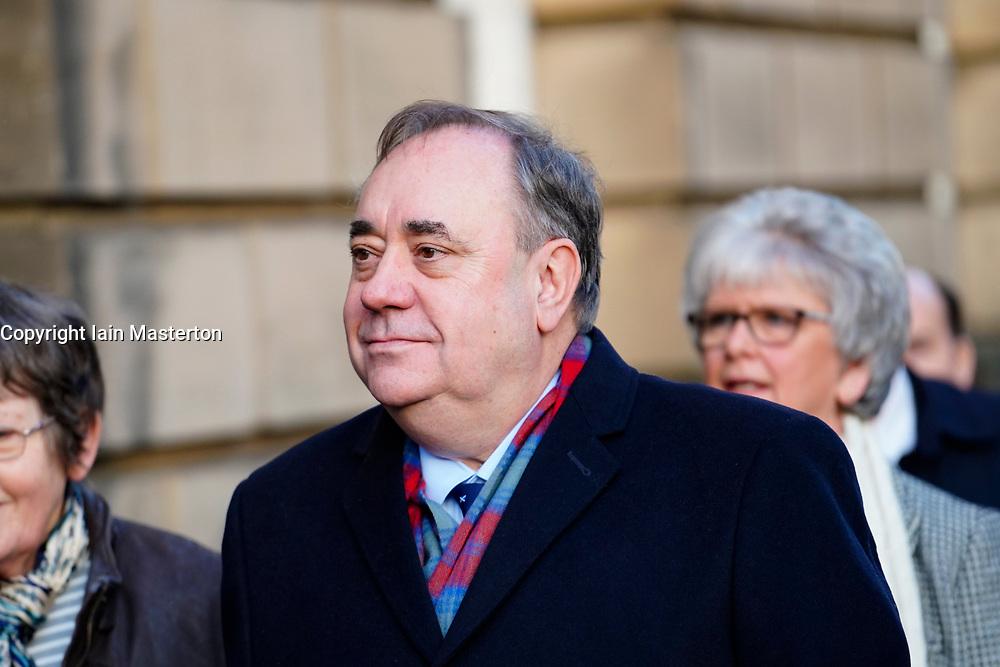 Edinburgh, Scotland, UK. 22 January, 2020. Alex Salmond attends court at High Court in Edinburgh. Iain Masterton/Alamy Live News.
