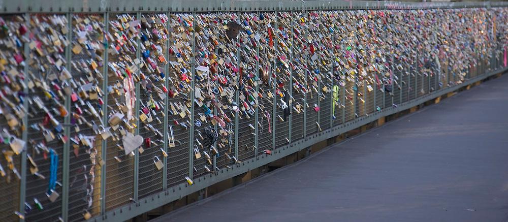 Lover's locks on the bridge, Cologne, Germany