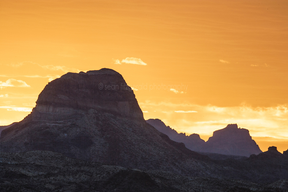 Sunset in Big Bend National Park, Texas, USA.