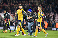 Arsenal Forward, Olivier Giroud goalscoerer (12) and Arsenal Midfielder, Granit Xhaka (29) at the final whistle during the Premier League match between Bournemouth and Arsenal at the Vitality Stadium, Bournemouth, England on 3 January 2017. Photo by Adam Rivers.
