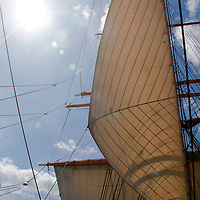 USA, California, San Diego. Star of India Sailing Ship, at the San Diego Maritime Museum.