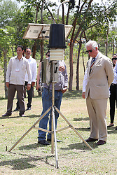 The Prince of Wales looks at a weather station during a visit to the Finca Marta organic farm in the Caimito district, near Havana, Cuba, as part of an historic trip which celebrates cultural ties between the UK and the Communist state.