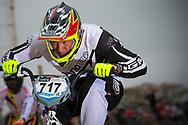 #717 (JIMENEZ CAICEDO Andres Eduardo) COL at the 2014 UCI BMX Supercross World Cup in Santiago Del Estero, Argentina.