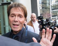 April 18, 2018 - London, United Kingdom - Cliff Richard arrives at the High Court. Cliff Richard Court Case, London. High Court. (Credit Image: © Mark Thomas/i-Images via ZUMA Press)
