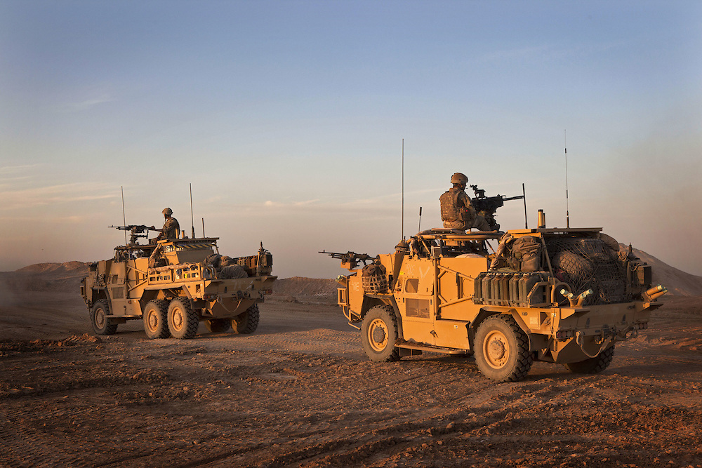 The Jackal is the signature vehicle of 16 Air Assault Bde's elite BRF (Brigade Reconnaissance Force). It is a mobile weapons platform used to cross vast areas of desert and other difficult terrain. The troops can operate for weeks at a time behind enemy lines from these amazing fighting vehicles. Kakaran in Helmand Province, Southern Afghanistan on the 14th of March 2011.