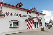 The exterior view of the Santa Claus House in North Pole, Alaska. The Christmas shop is open all year and a popular tourist destination.