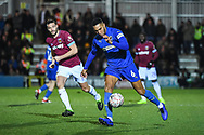 Wimbledon defender Terell Thomas (6) in action during the The FA Cup fourth round match between AFC Wimbledon and West Ham United at the Cherry Red Records Stadium, Kingston, England on 26 January 2019.