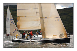 Yachting- The first days inshore racing  of the Bell Lawrie Scottish series 2003 at Tarbert Loch Fyne.  Light shifty winds dominated the racing...Nimmo, a Dubois 37 from Galway  Class one..Pics Marc Turner / PFM