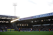 Both teams and officials show their respect with a minutes applause for Nelson Mandela. Barclays Premier league, West Bromwich Albion v Norwich city at the Hawthorns in West Bromwich, England on Sat 7th Dec 2013. pic by Andrew Orchard, Andrew Orchard sports photography.