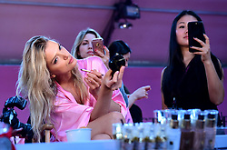 Lily Donaldson backstage at the Victoria's Secret fashion show held at The Grand Palais, Paris, France.
