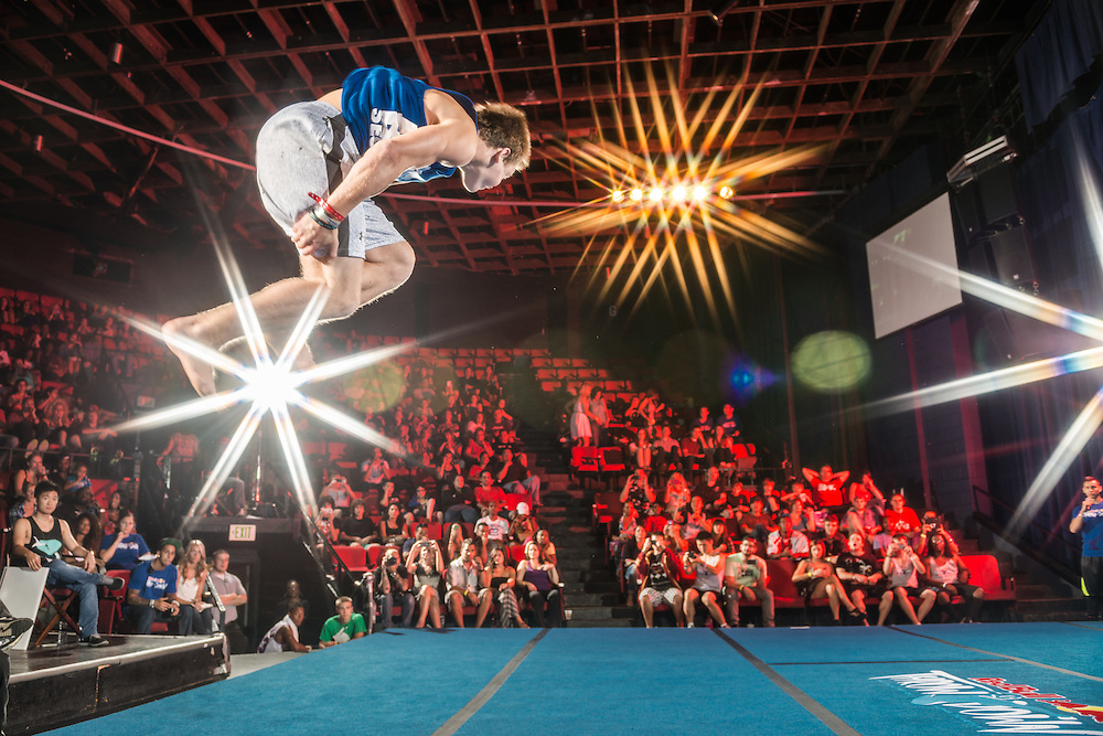 Bailey Payne competes during the Biggest Trick event at Red Bull Throwdown in Atlanta, Georgia on August 25th, 2013