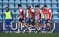 Football - 2020 / 2021 Emirates FA Cup - Round 2 - Gillingham vs Exeter City - Priestfield Stadium<br /> <br /> Exeter City's Joel Randall (14) celebrates scoring his side's third goal.<br /> <br /> COLORSPORT/ASHLEY WESTERN