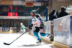 Jan Axel Alavaara (EHC Liwest Linz, #27) during ice-hockey match between HDD Tilia Olimpija and EHC Liwest Black Wings Linz at fourth match in Semifinal  of EBEL league, on March 13, 2012 at Hala Tivoli, Ljubljana, Slovenia. (Photo By Matic Klansek Velej / Sportida)