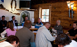 04.10.2010, Biathlon Zentrum, Hochfilzen, AUT, OESV Biathlon Medientag, im Bild Übersicht des Pressegespächs, EXPA Pictures © 2010, PhotoCredit: EXPA/ J. Feichter