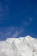 A snow capped mountain at Annapurna basecamp, Annapurna Sanctuary, Nepal