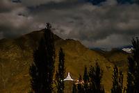 Shanti Stupa, Leh, Ladakh; Jammu and Kashmir state, India.