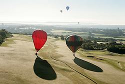 © Licensed to London News Pictures. 07/08/2015. Bristol, UK. Bristol International Balloon Fiesta 2015.  Friday morning mass flight of balloons.  Photo credit : Simon Chapman/LNP