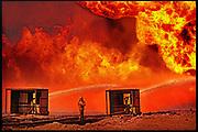 """Burning oilfield Kuwait -  'Sadam's Bonfire"""" THE SUNDAY TIMES MAGAZINE (UK)"""