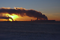 This is a view of the Agrium and Orica Fertilizer plants on the prairies east of Calgary, near Carseland, Alberta...©2010, Sean Phillips.http://www.Sean-Phillips.com