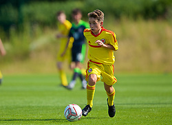 WREXHAM, WALES - Monday, July 22, 2019: Owen Rennie of South during the Welsh Football Trust Cymru Cup 2019 at Colliers Park. (Pic by Paul Greenwood/Propaganda)