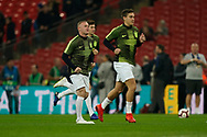 Wayne Rooney of England warms up during the International Friendly match between England and USA at Wembley Stadium, London, England on 15 November 2018.