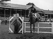 """07/08/1980<br /> 08/07/1980<br /> 07 August 1980<br /> R.D.S. Horse Show: John Player Top Score Competition, Ballsbridge, Dublin.  Captain Con Power (Ireland(Ind.)) on """"Derrypatrick""""."""