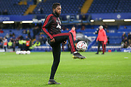 Manchester United Midfielder Fred controls the ball in warm up during the The FA Cup 5th round match between Chelsea and Manchester United at Stamford Bridge, London, England on 18 February 2019.