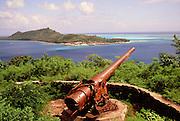 Bora Bora; French Polynesia; tahiti; south pacific. wwII; gun