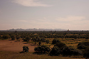 View of the temples. Bagan is one of the biggest tourist atractions in Myanmar because of its more than two thousand temples, in Burma.<br />