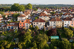 © Licensed to London News Pictures. 11/08/2021. Bristol, UK. Aerial view of housing in Bristol, south west England on August 11, 2021. Affordability in UK housing market has plunged to a 10-year low according to a survey. Photo credit: Simon Chapman/LNP.