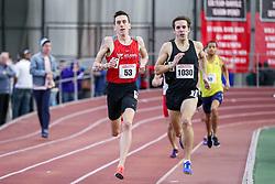 1000 meters, heat 1, Peterson, Atlanta Track Club, Crimmins, NE Distance<br /> BU John Terrier Classic <br /> Indoor Track & Field Meet <br /> day 2