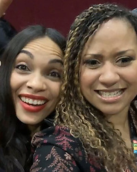 """Rosario Dawson releases a photo on Instagram with the following caption: """"RENT LIFE LIVE @rentonfox @traciethoms #trasariolove"""". Photo Credit: Instagram *** No USA Distribution *** For Editorial Use Only *** Not to be Published in Books or Photo Books ***  Please note: Fees charged by the agency are for the agency's services only, and do not, nor are they intended to, convey to the user any ownership of Copyright or License in the material. The agency does not claim any ownership including but not limited to Copyright or License in the attached material. By publishing this material you expressly agree to indemnify and to hold the agency and its directors, shareholders and employees harmless from any loss, claims, damages, demands, expenses (including legal fees), or any causes of action or allegation against the agency arising out of or connected in any way with publication of the material."""