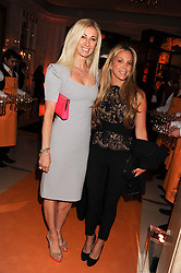 Left to right, JENNY HALPERN-PRINCE and BIANCA LADOW at the annual Veuve Clicquot Business Woman of the Year Award this year celebrating it's 40th year, held at Claridge's, Brook Street, London on 18th April 2012.