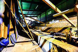 General view of the inside of the derelict Bishop Street Stand at the One Call Stadium, home to Mansfield Town - Mandatory by-line: Ryan Crockett/JMP - 04/12/2018 - FOOTBALL - One Call Stadium - Mansfield, England - Mansfield Town v Bury - Checkatrade Trophy