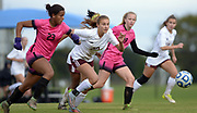 Houston (pink) vs. Collierville (white) in the Class AAA state soccer championship Saturday at Richard Siegel Soccer Complex in Murfreesboro, Tenn. Houston won the championship 1-0.