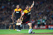 Chiefs' Aaron Cruden. Super Rugby rugby union match, Chiefs v Hurricanes at Waikato Stadium, Hamilton, New Zealand. Saturday 28th April 2012. Photo: Anthony Au-Yeung / photosport.co.nz