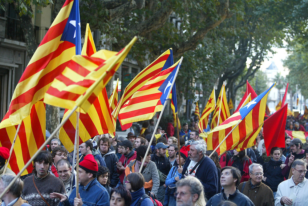 April, 11th. 2006. Catalanism claiming in the french city of Perpignan. Perpignan is considered part of Northern Catalonia.