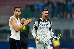 November 26, 2019, Milano, Italy: pierluigi gollini (atalanta) celebrates col pubblicoduring Tournament round - Atalanta vs Dinamo Zagreb , Soccer Champions League Men Championship in Milano, Italy, November 26 2019 - LPS/Francesco Scaccianoce (Credit Image: © Francesco Scaccianoce/LPS via ZUMA Wire)