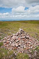 Rock Cairn on Bannau Sir Gaer, Black mountain, Brecon Beacons national park, Wales